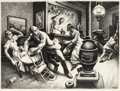 Fine Art - Work on Paper:Print, Thomas Hart Benton (American, 1889-1975). Frankie andJohnny, 1936. Lithograph on paper. 16-1/8 x 22-1/4 inches (41.0x ...