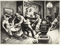 Thomas Hart Benton (American, 1889-1975) Frankie and Johnny, 1936 Lithograph on paper 16-1/8 x 22