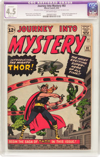 Journey Into Mystery #83 (Marvel, 1962) CGC Apparent VG+ 4.5 Slight (A) Off-white pages