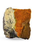 Minerals:Small Cabinet, Pascoite. Sunday Mine, Slick Rock District. San Miguel Co.. Colorado, USA. 3.08 x 2.65 x 1.75 inches (7.82 x 6.73 x 4.44 c...
