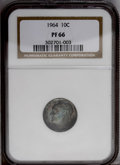Proof Roosevelt Dimes: , 1964 10C PR66 NGC. NGC Census: (112/1529). PCGS Population(113/1510).Mintage: 3,950,762. Numismedia Wsl. Price: $8. (#5239...