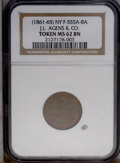 Medals And Tokens: , 1861 J.L. Agens & Co. Civil War Merchant Token MS62 Brown NGC. Fuld-555A-8A....