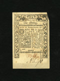 Colonial Notes:Rhode Island, Rhode Island May 1786 1s New. Technically New but with much better eye appeal than the grade would indicate. The embossing ...
