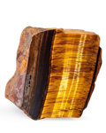 Lapidary Art:Carvings, Tiger's Eye Slab. Mt. Brockman Station. Pilbara. WesternAustralia. 4.45 x 4.02 x 2.01 inches (11.30 x 10.22 x 5.10cm)...