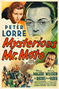 "Movie Posters:Mystery, Mysterious Mr. Moto (20th Century Fox, 1938). One Sheet (27"" X41""). From the collection of William E. Rea.. ..."