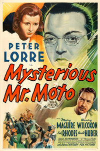 """Mysterious Mr. Moto (20th Century Fox, 1938). One Sheet (27"""" X 41""""). From the collection of William E. Rea..."""