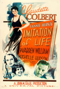 """Movie Posters:Drama, Imitation of Life (Universal, 1934). One Sheet (27"""" X 41""""). From the collection of William E. Rea.. ..."""