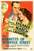 "Movie Posters:Romance, The Barretts of Wimpole Street (MGM, 1934). One Sheet (27"" X 41"")Style D. From the collection of William E. Rea.. ..."