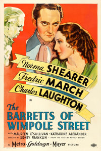 """The Barretts of Wimpole Street (MGM, 1934). One Sheet (27"""" X 41"""") Style D. From the collection of William E. R..."""