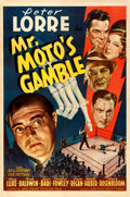 "Movie Posters:Mystery, Mr. Moto's Gamble (20th Century Fox, 1938). One Sheet (27"" X 41"").From the collection of William E. Rea.. ..."