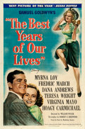 "Movie Posters:Drama, The Best Years of Our Lives (RKO, 1946). One Sheet (27"" X 41"") Style B. From the collection of William E. Rea.. ..."