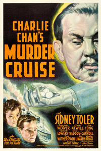 """Charlie Chan's Murder Cruise (20th Century Fox, 1940). One Sheet (27"""" X 41""""). From the collection of William E..."""