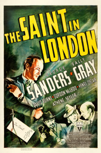"""The Saint in London (RKO, 1939). One Sheet (27"""" X 41""""). From the collection of William E. Rea"""
