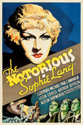 "Movie Posters:Crime, The Notorious Sophie Lang (Paramount, 1934). One Sheet (27"" X 41"").From the collection of William E. Rea.. ..."