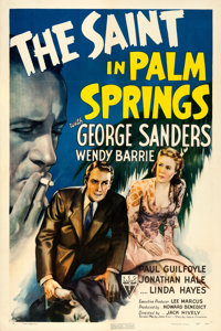 """The Saint in Palm Springs (RKO, 1941). One Sheet (27"""" X 41""""). From the collection of William E. Rea"""