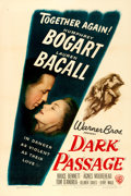 "Movie Posters:Film Noir, Dark Passage (Warner Brothers, 1947). One Sheet (27"" X 41"").From the collection of William E. Rea.. ..."