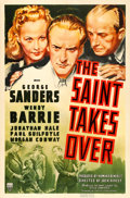 "Movie Posters:Mystery, The Saint Takes Over (RKO, 1940). One Sheet (27"" X 41""). Fromthe collection of William E. Rea.. ..."