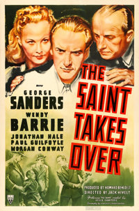 """The Saint Takes Over (RKO, 1940). One Sheet (27"""" X 41""""). From the collection of William E. Rea"""
