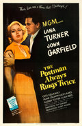 "Movie Posters:Film Noir, The Postman Always Rings Twice (MGM, 1946). One Sheet (27"" X 41"").From the collection of William E. Rea.. ..."