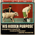 "Movie Posters:Action, His Hidden Purpose (Paramount, 1918). Six Sheet (79"" X 79"").. ..."