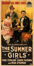 "Movie Posters:Comedy, The Summer Girls (Paramount, 1918). Three Sheet (41"" X 83"").. ..."