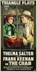 "Movie Posters:Drama, The Crab (Triangle, 1917). Three Sheet (41"" X 82"").. ..."