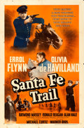 "Movie Posters:Western, Santa Fe Trail (Warner Brothers, 1940). One Sheet (27"" X 41""). Western.. ..."