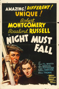 """Movie Posters:Thriller, Night Must Fall (MGM, 1937). One Sheet (27"""" X 41"""") Style C.. ..."""