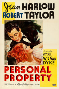 """Personal Property (MGM, 1937). One Sheet (27"""" X 41"""") Style C"""