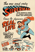 "Movie Posters:Serial, Superman (Columbia, 1948). One Sheet (28"" X 42"") Advance.. ..."