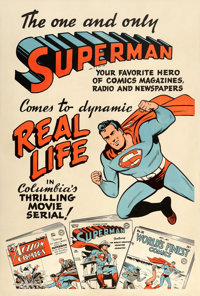 "Superman (Columbia, 1948). One Sheet (28"" X 42"") Advance"