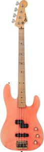 Musical Instruments:Bass Guitars, 1981 Charvel Pre Pro Pink Electric Bass Guitar, Serial # 1069, Weight: 9.2 lbs....