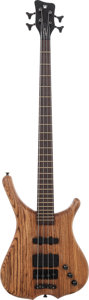 Musical Instruments:Bass Guitars, 2001 Warwick Infinity Natural Electric Bass Guitar, Serial # L088607-01, Weight: 10 lbs....