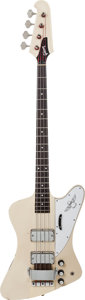 Musical Instruments:Bass Guitars, 1990's Greco TB-1100 White Electric Bass Guitar, Serial # 627777, Weight: 9.5 lbs....