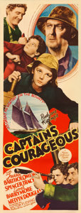 "Movie Posters:Adventure, Captains Courageous (MGM, 1937). Insert (14"" X 36""). Adventure....."