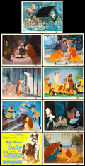 """Movie Posters:Animation, Lady and the Tramp (Buena Vista, 1955). Lobby Card Set of 9 (11"""" X14"""").. ... (Total: 9 Items)"""