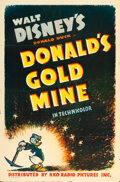 "Movie Posters:Animation, Donald's Gold Mine (RKO, 1941). One Sheet (27"" X 41"").. ..."