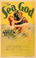 "Movie Posters:Adventure, The Sea God (Paramount, 1930). Window Card (14"" X 22"").. ..."