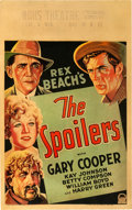 """Movie Posters:Western, The Spoilers (Paramount, 1930). Window Card (14"""" X 22"""").. ..."""