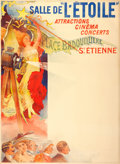 "Movie Posters, Salle de L'Étoile French Theatre Poster (1910). Stock French Grande(47"" X 63"").. ..."
