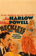 "Movie Posters:Drama, Reckless (MGM, 1935). Window Card (14"" X 22"").. ..."