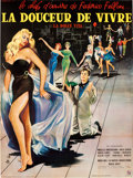 "Movie Posters:Foreign, La Dolce Vita (Cineriz, 1959). French Grande (47"" X 63"") Yves ThosArtwork.. ..."
