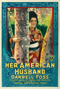 "Movie Posters:Drama, Her American Husband (Triangle, 1918). One Sheet (27.5"" X 41"")....."