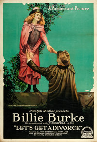 """Let's Get a Divorce (Paramount, 1918). One Sheet (28"""" X 41"""") Style B"""