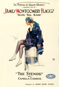 "Movie Posters:Comedy, James Montgomery Flagg's The Stenog (Perfection Pictures, 1918).One Sheet (28"" X 41"").. ..."