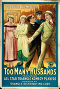 """Movie Posters:Comedy, Too Many Husbands (Triangle, 1918). One Sheet (27.5"""" X 41"""").. ..."""