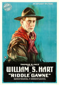 "Movie Posters:Western, Riddle Gawne (Artcraft, 1918). One Sheet (28.5"" X 41"").. ..."