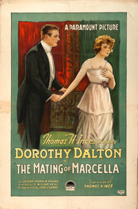 """The Mating of Marcella (Paramount, 1918). One Sheet (28"""" X 42"""") Style B"""