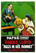 "Movie Posters:Comedy, Bees in His Bonnet (Pathe, 1918). One Sheet (28"" X 41"").. ..."