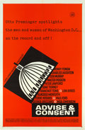 """Movie Posters:Drama, Advise & Consent (Columbia, 1962). One Sheet (27"""" X 41"""") Advance Style.. ..."""